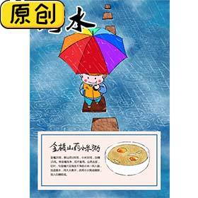 科普海报:24节气之雨水 (2)