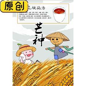 科普海报:24节气之芒种与桂花酸梅汤 (2)