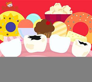 科普视频:牙齿上有一个奇怪的山洞,怎么回事?(食育系列)