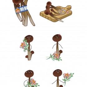 菌类、白蘑菇、草菇、茶树菇、鸡腿菇、杏鲍菇、竹荪、榛蘑、猴头菇 (8)