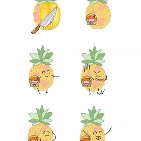 菠萝、香蕉、山竹、木瓜、火龙果 水果 (5)