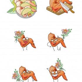 鸡胸脯肉、鸡腿、鸡翅、烤鸡 (4)