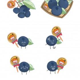 蓝莓、桑葚、柿子、葡萄、提子、无花果  水果 (6)