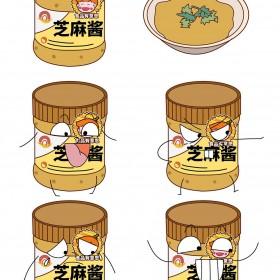 芝麻酱、花生酱、番茄酱、沙拉酱 (4)