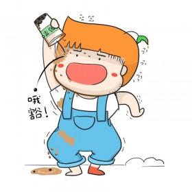 喝奶茶  吸管(大福) (2)