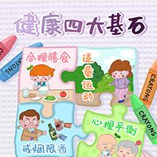 食育海报:健康四大基石 (1)